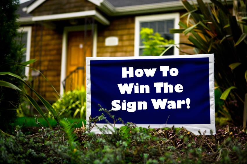 Everything you need to know about winning with yard signs victory dont take yard signs for granted solutioingenieria Choice Image